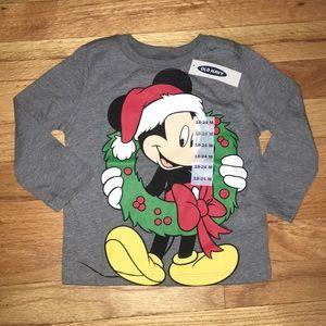 🎄 NWT! Old Navy Disney Mickey Mouse Santa Tee